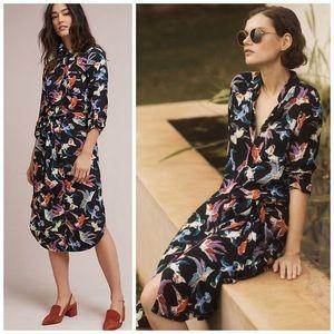 🌿Anthropologie Bird Print Dress